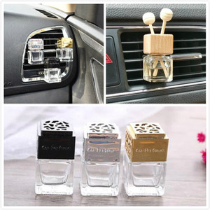 Car Perfume Empty Bottle With Clip Colorful Car Perfume Bottle For Air Outlet Of Automobile Air Conditioner Cars Hanging Glass Z358
