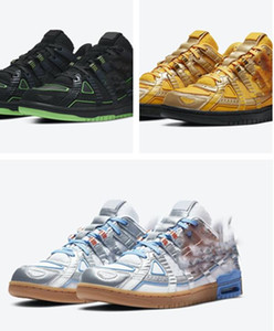 Con la scatola 2020 Fuori gomma Dunks Bianco Verde Sciopero Università oro Università Blu Scarpe Sneakers calda design calza il formato 36-45.