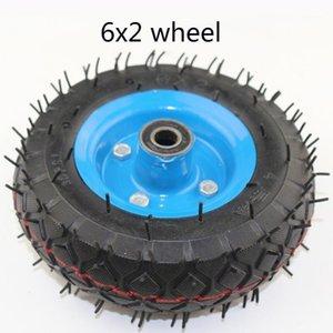 """6x2 인플레이션 타이어 휠 사용 6 """"타이어 합금 허브 160mm 공압 타이어 전기 스쿠터 공압 휠 트롤리 카트 Air1"""