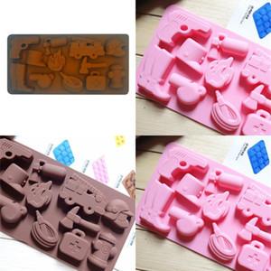 Silikon Kalıplar Jelly Çikolatalı Kek Kurabiye Kalıp Islık Yangın Hidrant şekiller Kalıp Mutfak Yeni Ürünleri 3xm F2 Malzemeleri