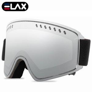 Elax Brand New Double Layers Anti-Fog Ski Goggles Snow Snowboard Skardes Snowmobile На открытом воздухе Очки Sport Sport Ski Googles F1222