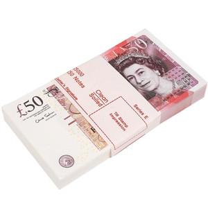 Prop fingir o dinheiro do dinheiro do Reino Unido cópia cópia dinheiro falso para ensinar papel de notas pelas crianças na escola