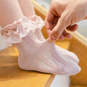 Сладкие детские носки кружева девочек хлопчатобумажные носки принцесса танец носки детские носок младенца девушки Одежда для девочек оптовой