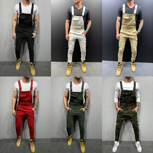 Hommes Blanc Denim Gélaule Fashion Slim Slim-Fit Pantalons Stretch No Trous Néen Denim Street Street Pantalon Menseurs