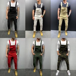 Moda de mezclilla blanca Moda Moda Rojo Slim-Fit Pies Pantalones Estirar Sin Agujeros Denim Street Tide Thin Mens Pantalones