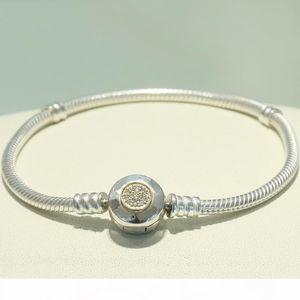 Klasik Tasarım 925 Ayar Gümüş 3mm Yılan Zincir Bilezik Fit Pandora Charm Boncuk Erkekler ve Kadınlar için Gümüş Takı DIY Yapımı