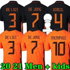 Memphis 2020 Niederlande Fußball Hemd De Jong Holland de Ligt Strootman van Dijk Virgil 2021 Football Jersey Erwachsene Männer + Kinder Kit