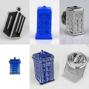 Fashion Who Brooch Pins Houses Tardis Enamel Pin Alloy Metal Shield Brooches Women Men Badges Jewelry Chrismas Gifts