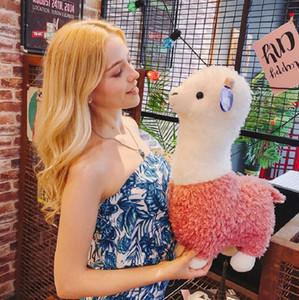 크리 에이 티브 알파카 플러시 장난감 인형 Alpaca 베개 귀여운 인형 ragdoll 봉제 장난감 잠자는 베개 어린이 크리스마스 선물 생일 선물 DHF3976