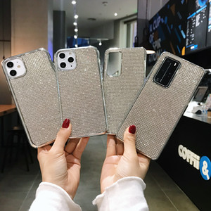 Glitter Rhinestone Bling Diamond Case for iphone 12 11 pro XS Max X XR 7 8 Plus Soft Silicone Protector Back Cover
