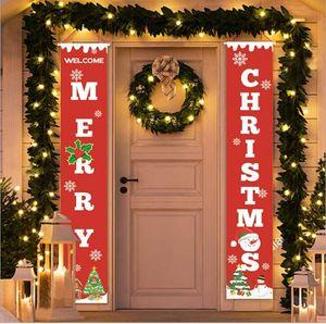 New Christmas decorations Christmas couplet festival decoration door curtain Christmas banner Outdoor Flag ghhy55445