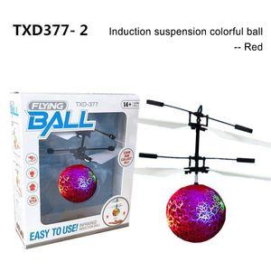 Flying Copter Ball Aircraft Elicottero LED Lampeggiante Light Up Giocattoli Induzione Sensore del giocattolo elettrico per bambini Bambini Natale con pacchetto LLL