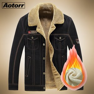 Winter Jacket Men Military Outerwear Tactical Air Force Pilot Bomber Jackets Mens Fur Collar Jeans Coats Veste Homme Streetwear 201022