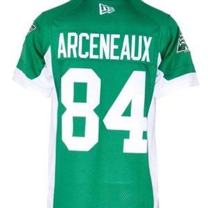 Personalizado 2019 604Saskatchewan Roughriders Arceneaux # 84 Real Completo Bordado Colégio Jersey ou Qualquer Nome ou Número Jersey
