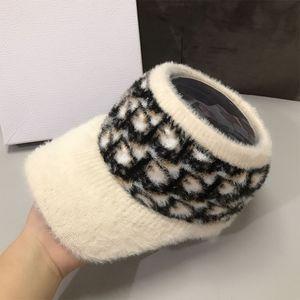 Winter Mink Fur Baseball Hat Women Fashion Empty Top Caps Autumn Sunshade Outdoor Sports Cap 2020 New Girls Students Warm HatsX1023