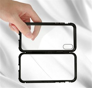 Magnetic Adsorption Double Sided Glass Tempered Glass Back for Phone Case Cover Metal Magnetic Fitted Cases