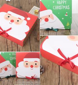 Kurdele EEE2746 ile Yaratıcı Noel Hediyesi Kağıt Kutu Noel Baba Kardan Adam Şeker Kurabiye Noel El Çantası Paketi Kutuları
