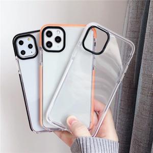 Cojín transparente claro TPU de doble Aire Eliminación de color completo de protección a prueba de golpes de nuevo caso para el iPhone 12 11 Pro Max XR XS X 6 7 8 Plus SE 2020
