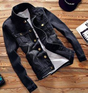 Men Denim Jacket Coat Slim-fitting casual top Long Sleeve Autumn Street fashion men's jackets Mens Clothes Plus Size Asian size S--5XL