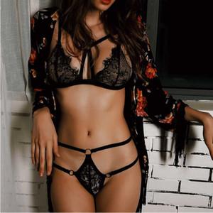 Sexy Lingerie Lingeries Lace G-string Thong Bra Babydoll Sleepwear Underwear Nightwear Outfit Set Women Intimates
