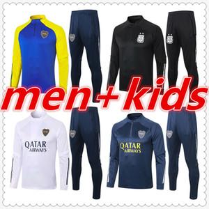 Аргентина Бока Юниоры Марадона Взрослые и дети Мужские дизайнерские трексуиты Тренеры Футбол Джерси 2021 Футбольный тренировочный костюм