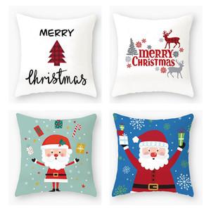 40 Designs Pillow Case Santa Claus Christmas Tree Snowman Elk Pillow Case Colorful Pillow Cover Home Sofa Car Decor Pillowcase HWA2002