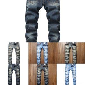 HC5PN New Jeans Stretch Regular Fit Jeans Maschio Hombre Stampa Casual Stile Classic Style Denim Pantaloni Denim Denim Jeans Man Para Blue Mens Cotton
