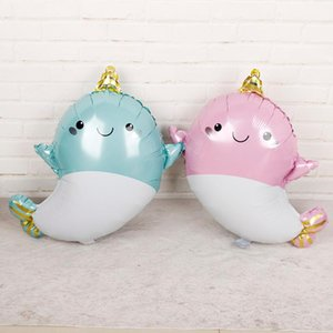 1pc 58cm*69cm ocean animal helium Balloons baby shower girl whale baloes pink blue wedding birthday party decorations kids toys