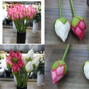Искусственный цветок Vivid 78см Artificail Silk Lotus Bud Hotel и ресторан декоративный цветок искусственный пруд симуляционный завод 191 г2