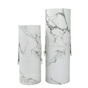 Portable Pu marmorizzazione di pennelli di trucco organizzatori Box cosmetico di bellezza della penna del rossetto Holder Bagno Storage Accessori C19041201
