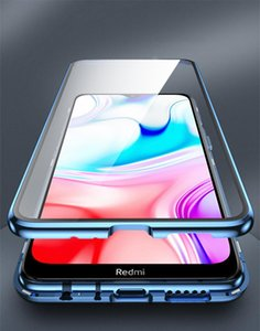 Metal Magnetic Double Side Glass Phone Case For Xiaomi Redmi 8 8a Note 8 7 K20 Pro Phone Cover For Mi 9 9 wmtBGr yyysports