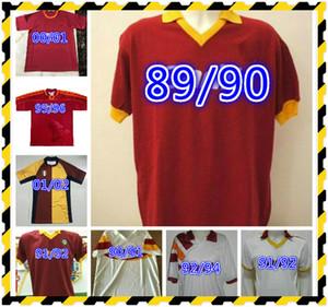 1990 1991 1992 1992 1994 1995 ريترو توتي لكرة القدم جيرسي 2000 Totti Batistuta Candela Montella Shirt الكلاسيكية خمر Maglia Da Calcio Nakata Balbo