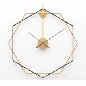 Creative Nordic style simple wall clock Light luxury living room clock decorations