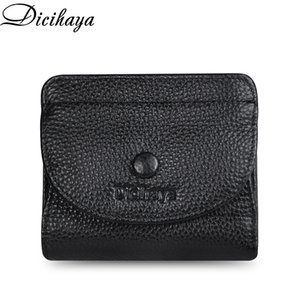 DICIHAYA 2020 Small Real Wallet Credit Card Holder Men And Women COWHIDE RFID Purse MINI Genuine Leather Fashion Wallets Q1110