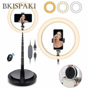 "10"" LED Ring Light Photographic Selfie Ring Lighting with Stand for Smartphone Youtube Makeup Video Studio Tiktok Light"