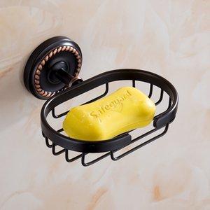 Настенные монтируемые черные мыльные блюда латунные мыльные корзины в ванной комнате аксессуары для ванной комнаты унитазное мыло держатель GWF4865