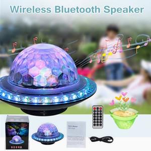 Nouveau haut-parleur stéréo sans fil Bluetooth Disco Ball Party RGB LED Light FM USB TF MP3 Portable MP3 Portable Bluetooth Subwoofer Musique Player Haut-parleurs