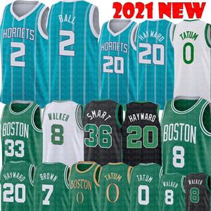 Lamelo 2 Top Gordon 20 Hayward Jersey Jayson 0 Tatum Kemba 8 Walker Jersey 33 Marcus 36 Akıllı Jaylen 7 Kahverengi Basketbol Formaları