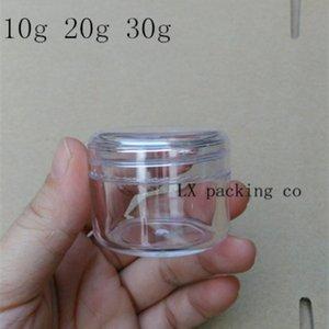 El envío libre 10g / ml 20 g / ml 30g / ml ojo del gel del lápiz labial Loción pequeñas botellas transparentes de muestras Lucency de rosca de plástico de la botella tapa Crema Jar