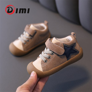 DIMI 2020 Autumn Infant Toddler Shoes Fashion Soft Comfortable Cow Suede Baby Sneaker Non-slip Baby Shoes First Walkers LJ201104