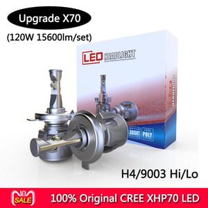 CR-EE XHP-70 X70 بالإضافة إلى السيارات الصمام عدة لمبة H7 H4 LED للدراجات النارية العلوي لمبة 7800LM 60W مرحبا / لو تحويل عدة 6000K موتور للمصابيح الأمامية