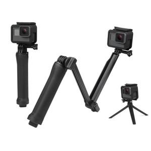 3 Way Grip Monopod For Gopro Hero 5 6 Session SJ4000 Xiaomi Yi 4K Camera Go Pro Selfie Stick with Tripod
