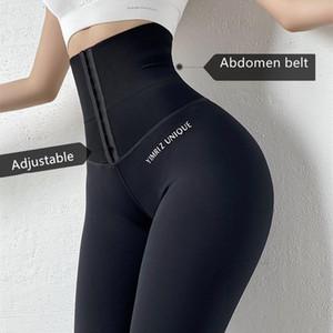 reducir el tamaño del abdomen cintura alta pantalones de yoga entrenamiento legging Deportes Mujeres Fitness Gym polainas de ejecutar la capacitación Medias Activewear