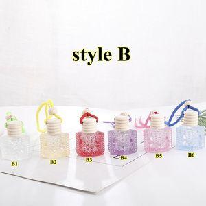 Автомобильная парфюмерная бутылка для бутылки подвеска эфирное масло диффузор красочные украшения освежитель воздуха кулон пустые парфюмерные стеклянные бутылки висит декор DWA2060