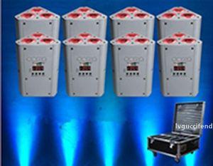 10pcs IR Remote pile cuneo par supporto uplighting matrimonio DJ RGBWA UV LED della batteria senza fili di DMX uplighting EEA1274