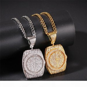 Men Hip Hop Necklace Fashion Watch Pendant Necklace Delicate Alloy Necklaces Boy Birthday Gift INS Style Jewelry