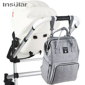 Insular Brand Nappy Backpack Bag Mummy Large Capacity Stroller Bag Mom Baby Multi-function Waterproof Outdoor Travel Diaper Bags 201006