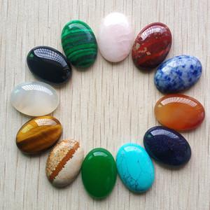 12pcs / lot clasificó Cuentas de piedra natural mezclado piedra oval CAB CABOCHON lágrima 18x25m m para la joyería que hace el envío libre 200930