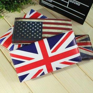 Padrão bolsas bandeira americana Inglaterra Lady NOVO Moda Mulheres Carteiras Cartões Titular Zipper Ferrolho Bolsas Moneybag Coin Purse Wallet