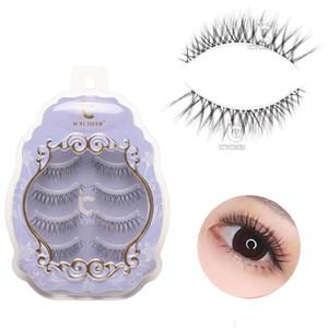 Air sensation Makeup Japanese Eyelashes Set Ultra Soft Lightweight Lashes Extension Eyelash Handmade Nude Look Party